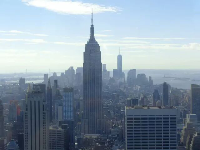 Empire State visto do Top of the Rock!