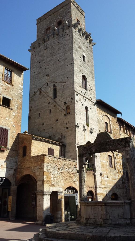 No centrinho de San Gimignano!