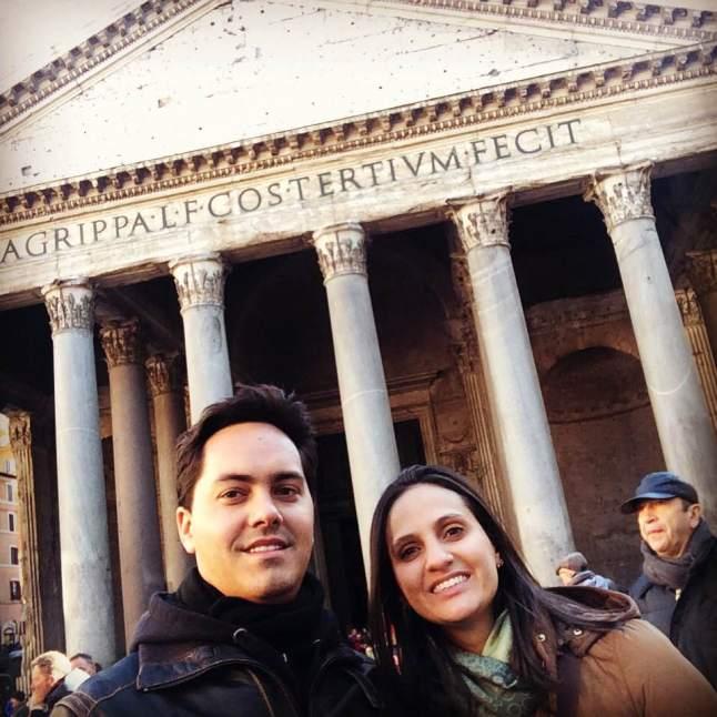 A entrada do maravilhoso Panteão!