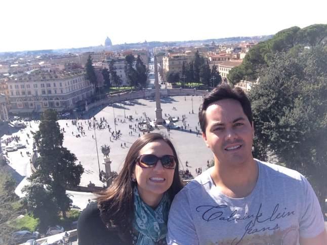 Vista que amei, da Piazza del Popolo!