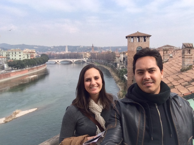 Verona vista do alto do CastelVecchio