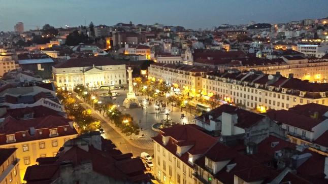 Praça Rossio vista do elevador da Justa!