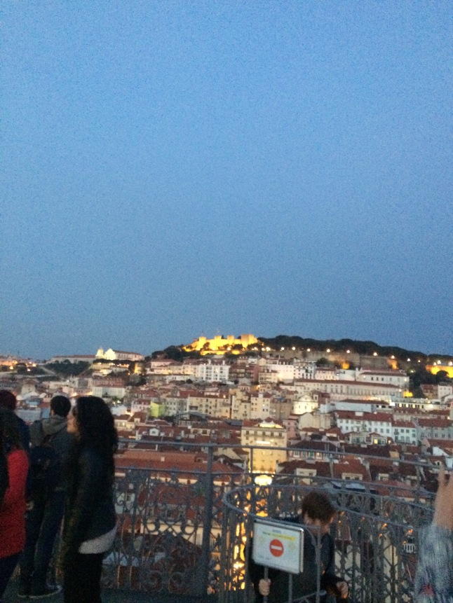 Vista do Castelo de São Jorge do alto do Elevador da Justa